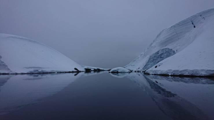 falaise de glace